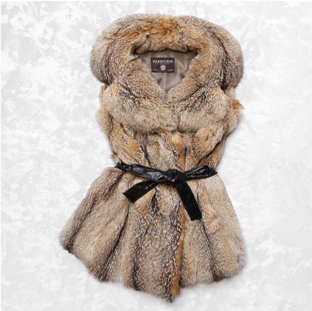 Harricana recycled fur vest 2