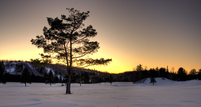 Coucher de soleil au Canada