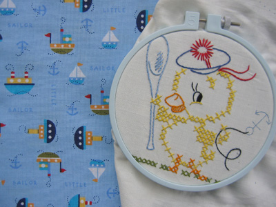 sailor duck quilt block