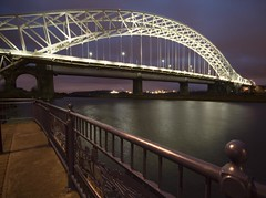 Runcorn Bridge0 (the underlord) Tags: night twilight cheshire tripod starlings runcorn timedexposure runcornbridge 8seconds