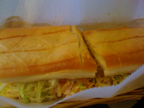 Turkey Sub from the Chinese Sub Shop, Memphis, Tenn.