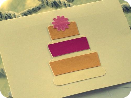 pretty cake card