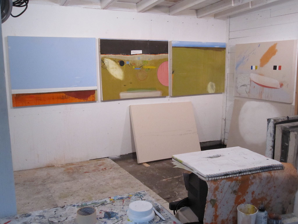 painting studio 2010.February.26 Manuel Angeja