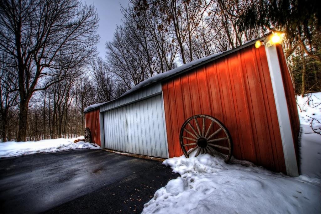 A shed in Slinger, WI.