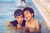 عــش ســعيدأ (FatoOoma Qatar ~) Tags: portrait cute love boys water pool smile smiling kids canon children fun happy day child time brothers happiness smiley them miss fatma doha qatar 2010 othman s3d sa3ad fatoooma 3thman 37♥washere