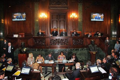 Mauricio Macri iniciando las sesiones ordinarias de la Legislatura