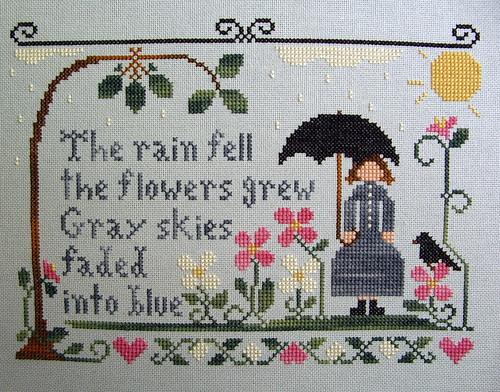 the rain fell