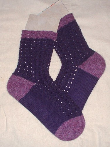 purple bluebell socks finished