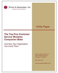 Top Five Customer Service Mistakes