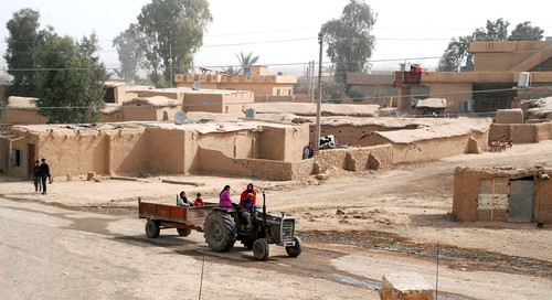 Poor Iraqi village gets water, soccer equipment