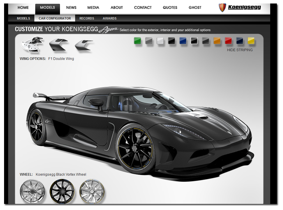 Customize Your Own Car Online >> Configure Your Own Koenigsegg Agera Teamspeed Com