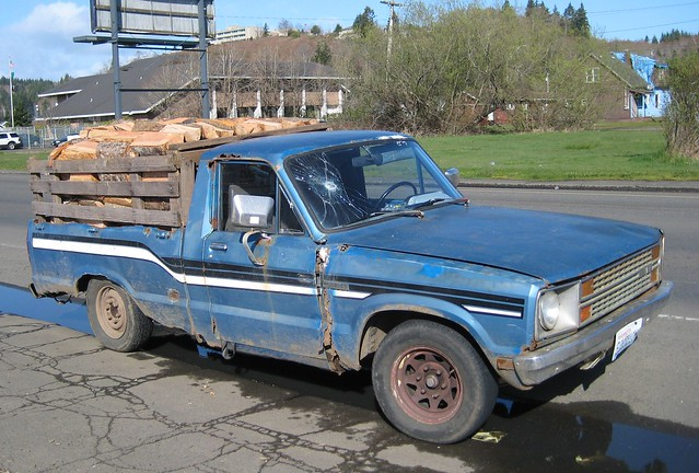 ford truck pickup mazda courier derelict