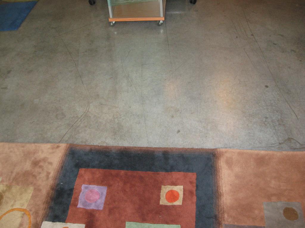 Concrete floors.