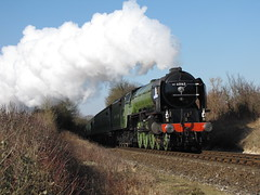 Tornado climbs towards Ropley (rcarpe2) Tags: train railway steam tornado gala watercress ropley midhants 60163