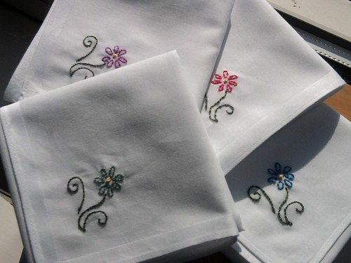 Embroidered handkerchiefs