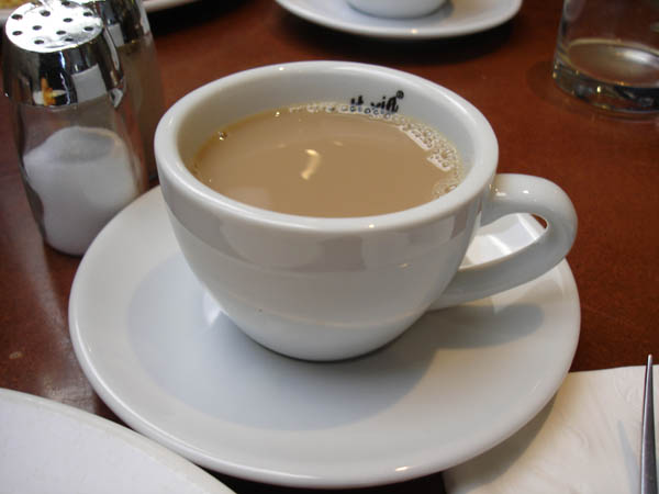 Zipp Restaurant Bar (Mantra hotel, Canberra) - Cold, watery coffee with milk.
