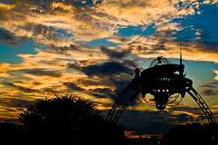 Space:  The Final Frontier (Tom.Bricker) Tags: sunset nikon florida dusk disney disneyworld mickeymouse orangesky redsky wdw waltdisneyworld themepark magickingdom goldenhour sunsetsky waltdisney beautifulsky orlandoflorida cinderellacastle dusksky colorfulsky disneyphotos wdwfigment tombricker goldenhourphotography