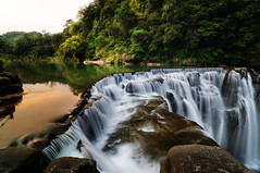() Tags: sunset waterfall taiwan cascade   shifen      d90
