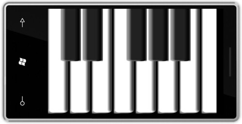 Windows Phone piano application by Rob Miles