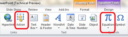 Powerpoint 2010 Office 2010 Actions Tab Animations