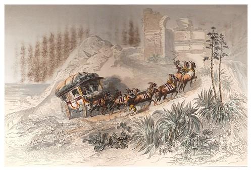011-Diligencia española en el pasaje del Col de Balaguer-Voyage pittoresque en Espagne et en Portugal 1852- Emile Bégin