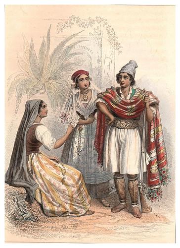 033-Vestimentas de Benicarlo-Cartagena-Orihuela-Voyage pittoresque en Espagne et en Portugal 1852- Emile Bégin