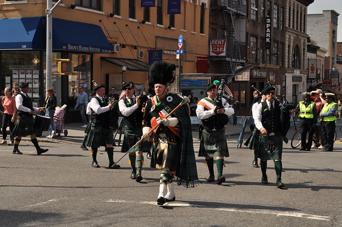 Knights of Columbus bagpipers