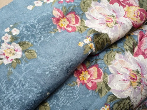 Jacquard Flower Print Gauze for My Dress