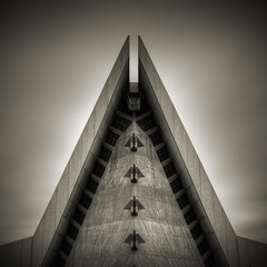 Temple: Study I (Jeff Gaydash) Tags: longexposure blackandwhite abstract architecture square temple detroit symmetry nd110
