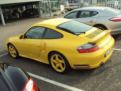 Porsche 911 Turbo S (nakhon100) Tags: cars yellow 911 turbo porsche bil sportscars 996 worldcars