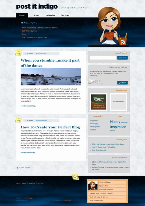 Post It   ThemeForest WordPress Theme