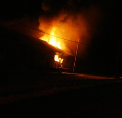 Fire damages EA warehouse