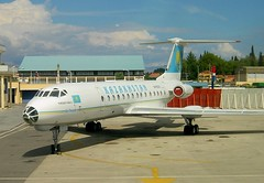 UN-65551 Air Kazakstan (Gerry Hill) Tags: airport aircraft sony air hellas aeroplane greece airline a3 corfu kerkyra p1 tupolev kazakstan tu134 sexytimes tu134a3 jagshemash un65551