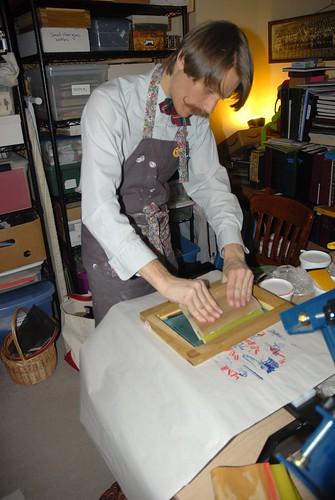 Peter Selmayr prepares a Broadside