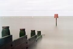Whitstable Groyne (syncreticscot) Tags: sea film kent whitstable groynes nikonf80 nd110