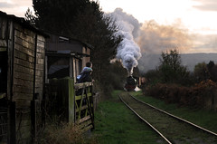 Bobgins crossing 008d (Keighley Bee) Tags: trainspotting tanfield coaltrainday