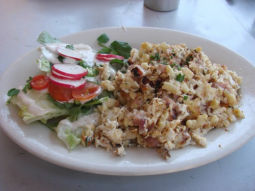 Spaetzle with ham and eggs from Cafe Steinhof