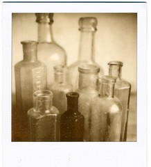 11 - bottles (akki14) Tags: old vintage polaroid sx70 bottles px100 impossibleproject
