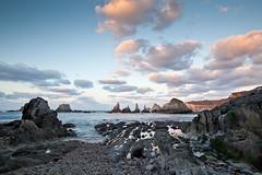 Gueirua waterfalls (Jos Carlos Photography) Tags: sunset sea espaa seascape beach clouds marina mar waterfall spain rocks stones asturias playa nubes rocas anochecer piedras cascada cantbrico cantabricsea gueirua