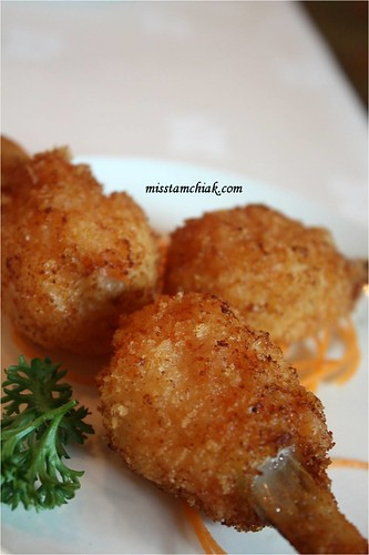 Deep Fried Scallops with Sugar Cane
