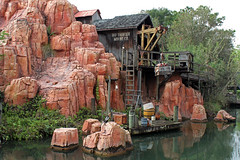 Big Thunder Mountain seen from the Liberty Belle during Tiana's Showboat Jubilee