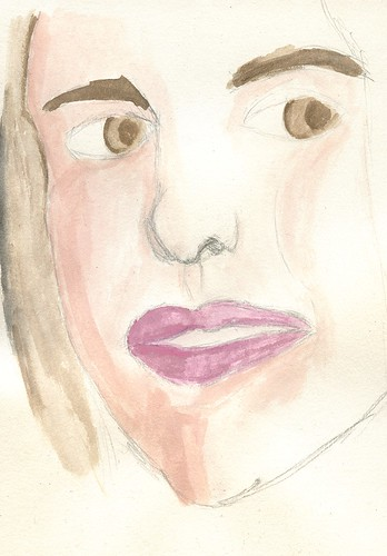 water colour -  face