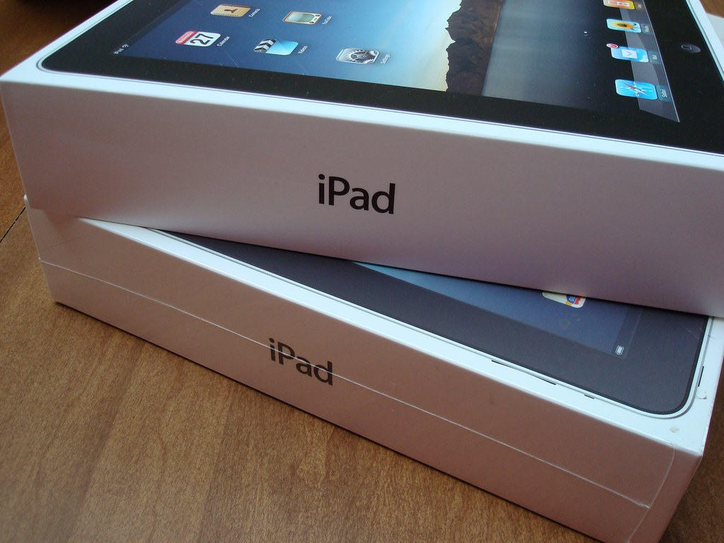 A pair of iPads