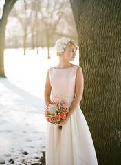 75550013 (jenlynnephoto) Tags: winter wedding snow film vintage groom bride kodak t2 contax645 filmphotography