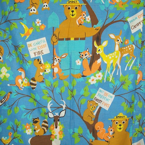 Vintage SMOKEY THE BEAR Twin Sheet