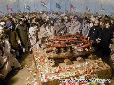 Gandhi's cremation