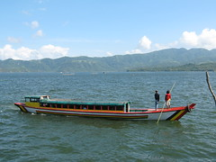 Boat leaving the port (PINOY PHOTOGRAPHER) Tags: world trip travel boat asia tour philippines bicol pilipinas buhi camsur