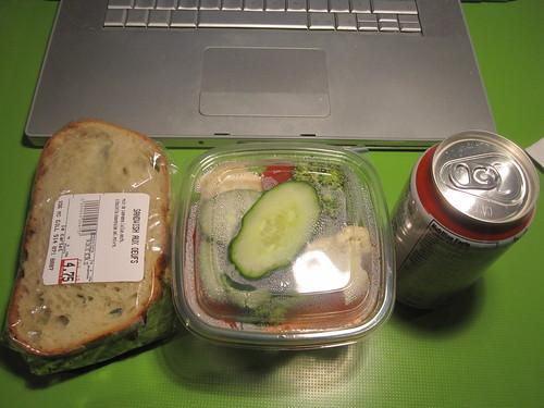 Egg sandwich, crudité box, V8 from Carte - $12