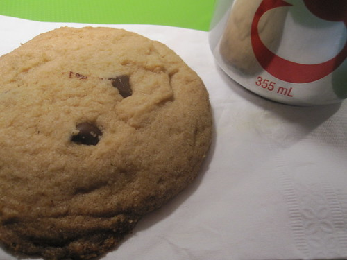 COokie from the bistro (free), Diet Coke ($1.25)