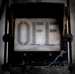 OFF (memake) Tags: old light station sign train word typography platform rusty rail off signal wordoff